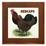 Red Caps Framed Tile