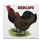 Red Caps Tile Coaster