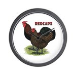 Red Caps Wall Clock