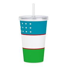 Uzbekistan Flag Acrylic Double-wall Tumbler