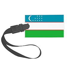 Uzbekistan Flag Luggage Tag