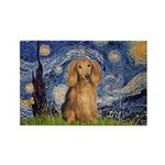 Starry / Doxie (LH-Sable) Rectangle Magnet (10 pac