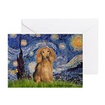 Starry / Doxie (LH-Sable) Greeting Cards (Pk of 10