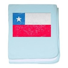 Distressed Chile Flag baby blanket