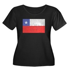 Distressed Chile Flag Plus Size T-Shirt