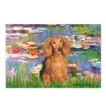 Lilies (2) & Doxie (LH-Sable) Postcards (Package o