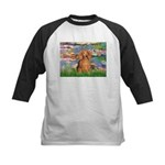 Lilies (2) & Doxie (LH-Sable) Kids Baseball Jersey