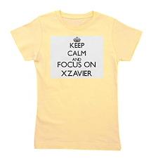Keep Calm and Focus on Xzavier Girl's Tee