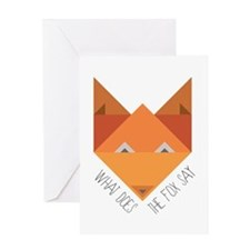 Fox Say Greeting Cards