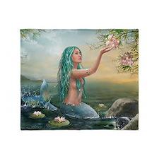 Marine Mermaid Throw Blanket