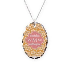 3 Custom Initials Monogrammed Necklace