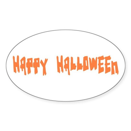 Happy Halloween Oval Sticker