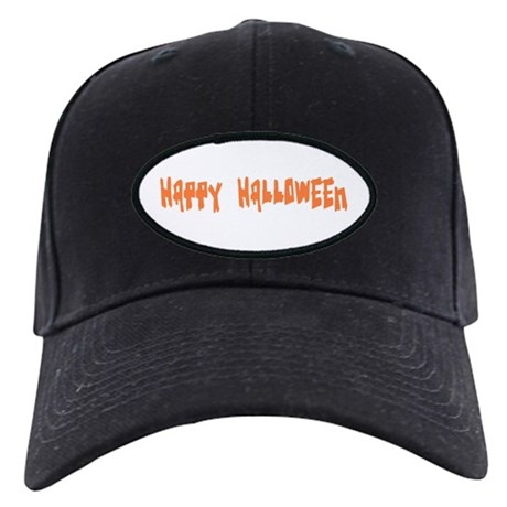 Happy Halloween Black Cap
