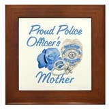 Blue Rose Police Mother Framed Tile