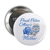 Blue Rose Police Mother Button