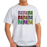 Artsy, Colorful Bassett Blocks T-Shirt