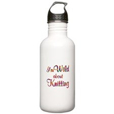 Wild About Knitting Water Bottle