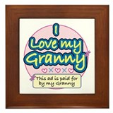 I Love My Granny - Pink Framed Tile