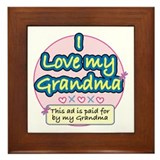 I Love My Grandma - Pink Framed Tile