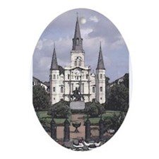 St. Louis Cathedral  Oval Ornament