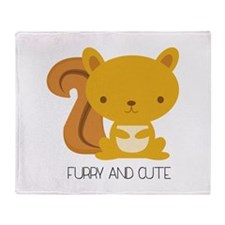 Furry And Cute Throw Blanket