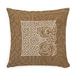 Celtic Letter F Master Pillow