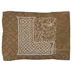 Celtic Letter L Pillow Sham