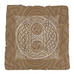Celtic Letter O Tufted Chair Cushion