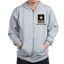 Personalize Army Zip Hoody
