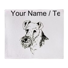 Wire Fox Terrier (Custom) Throw Blanket
