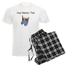 Puppy On Clothesline (Custom) Pajamas