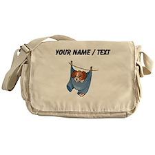 Puppy On Clothesline (Custom) Messenger Bag