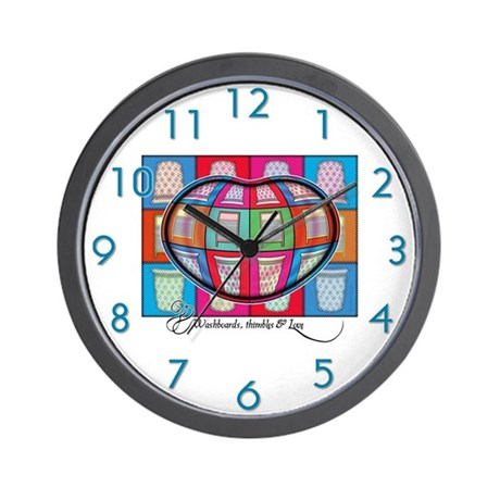 Patchwork Love Wall Clock