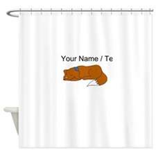 Dog Sleeping (Custom) Shower Curtain