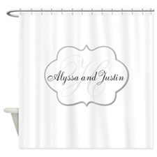 Elegant Monogram And Name Design Shower Curtain