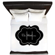Elegant Monogram and Name Design King Duvet