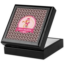 Brown and Pink Cowgirl Personalized N Keepsake Box