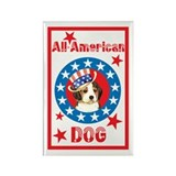 Patriotic Beagle Rectangle Magnet