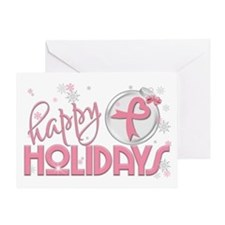 Happy Holidays (breast Cancer) Greeting Cards