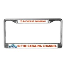 Swim Catalina License Plate Frame