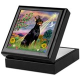 Cloud Angel with Doberman Pinscher Keepsake Box