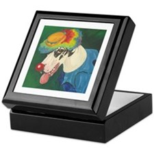 Harlequin Clown Keepsake Box