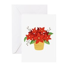 Christmas Poinsettia Plant Greeting Cards