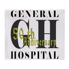 General Hospital 50th Black Throw Blanket