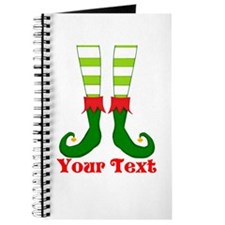 Personalizable Funny Elf Feet Journal