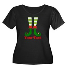 Personalizable Funny Elf Feet Plus Size T-Shirt