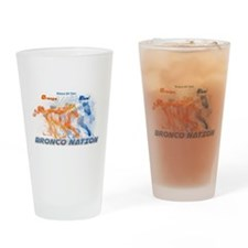 Home Of The Orange White And Blue Drinking Glass