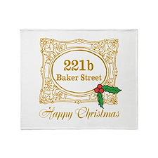 Baker Street Christmas Throw Blanket