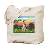Bright Country & Wire Fox Terrier Tote Bag