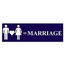 Love and Marriage Bumper Bumper Sticker
